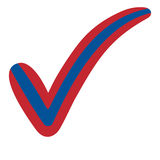 Check mark style Mongolia flag symbol elections, voting and approval royalty free illustration