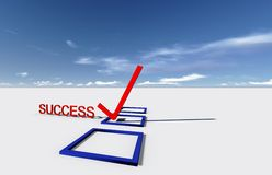 Check Mark for success Stock Image