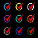 The check mark symbol in circle Royalty Free Stock Image