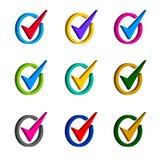 The check mark symbol in circle Stock Image