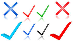 Check mark symbols Royalty Free Stock Images