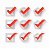 Check mark symbols. This is file of EPS10 format Royalty Free Stock Images