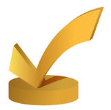 Check mark trophy Royalty Free Stock Image