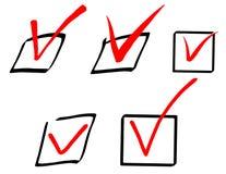 Check mark vector signs, tick signs Royalty Free Stock Photos