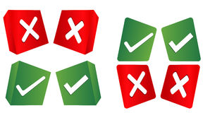 Check Mark, Wrong Mark Icons. Illustration icons Stock Photo