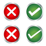 Check Mark, Wrong Mark Icons Stock Images