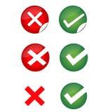 Check Mark, Wrong Mark Icons Stock Photos