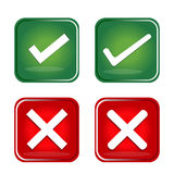 Check Mark, Wrong Mark Icons Royalty Free Stock Images