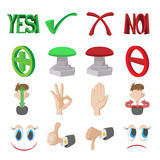 Check mark Yes and No icons set Stock Image