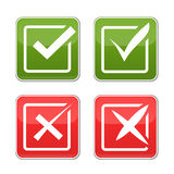 Check marks Stock Photography