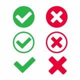 Check marks icon signs vector illustration set. vector illustration