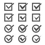 Check Marks Set Royalty Free Stock Images