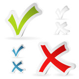 Check Marks Stickers Stock Photos