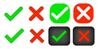 Free Check Marks Yes And No. Stock Photo - 123735460