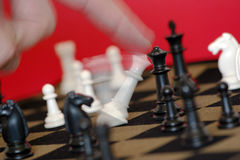 Check Mate. Winning a game of chess Royalty Free Stock Image