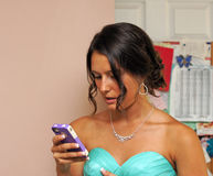 Check messages before prom Royalty Free Stock Photos