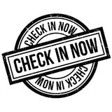 Check In Now rubber stamp Royalty Free Stock Image