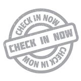 Check In Now rubber stamp Royalty Free Stock Photo