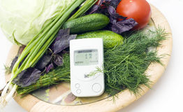 Free Check Of Vegetables On Radiation Presence Stock Photography - 20285952