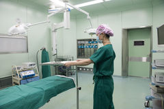 Check the operating table-Preoperative preparation Royalty Free Stock Photos