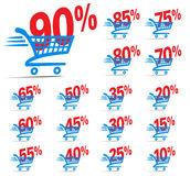 Check Out Shopping Cart SALE Icon Symbol with Percent Stock Photo