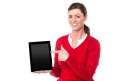 Check out new generation touch pad device. Royalty Free Stock Photos