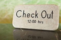 Check Out Time Royalty Free Stock Photo