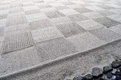 Check pattern of a Japanese rock garden royalty free stock images