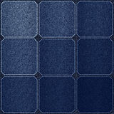 Check pattern leather blue background Royalty Free Stock Image
