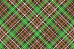 Check pixel plaid fabric texture seamless pattern. Vector illustration Stock Image