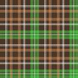 Check pixel plaid fabric texture seamless pattern. Vector illustration Stock Photography