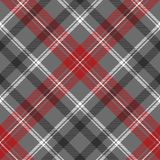Check plaid diagonal fabric texture seamless pattern. Vector illustration Royalty Free Stock Images