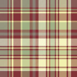 Check plaid fabric texture seamless pattern. Vector illustration Stock Photography