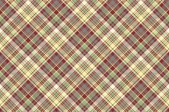 Check plaid fabric texture seamless pattern. Vector illustration Royalty Free Stock Photography