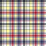 Check plaid tartan fabric texture seamless pattern. Vector illustration Royalty Free Stock Photo