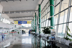 Check-in in Plovdiv aiport - Bulgaria Royalty Free Stock Image