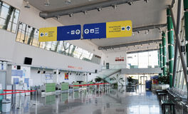 Check-in in Plovdiv aiport - Bulgaria Royalty Free Stock Photo