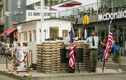 Check Point Charlie royalty-vrije stock fotografie