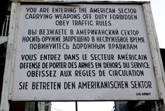 Check Point Charlie stock foto