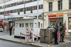 Check Point Charlie Stock Afbeelding