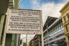 Check Point Charlie from World War II in Berlin Royalty Free Stock Image