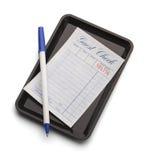 Check Receipt Pen Stock Photography