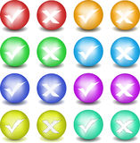 Check and refuse buttons 2. Round check and refuse buttons. Vector set Stock Photo