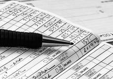 Check-Register stockfotografie