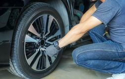 Check and repair wheels without having to import service shops. stock photos