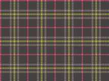 Check 022. Seamless texture of rough cotton fabric with plaid vector illustration