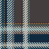 Check 025. Seamless texture of rough cotton fabric with plaid royalty free illustration