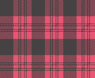Check 034. Seamless texture of rough cotton fabric with plaid stock illustration