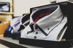 Check shirts on sale Royalty Free Stock Images