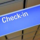 Check-in sign Stock Photos